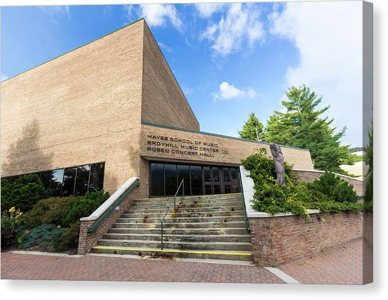 Appalachian State University Asu Canvas Print - Broyhill Music Center At Appalachian State University by Bryan Pollard