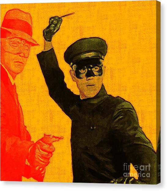 Kung Fu Canvas Print - Bruce Lee Kato And The Green Hornet - Square by Wingsdomain Art and Photography
