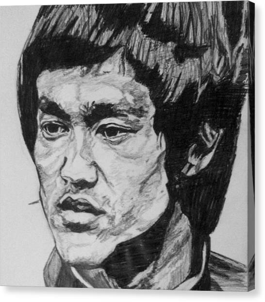 Canvas Print - Bruce Lee by Rachel Natalie Rawlins