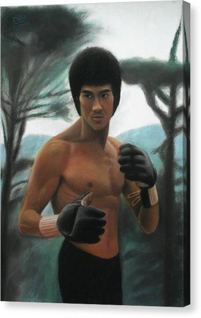 Bruce Lee - The Concentration  Canvas Print