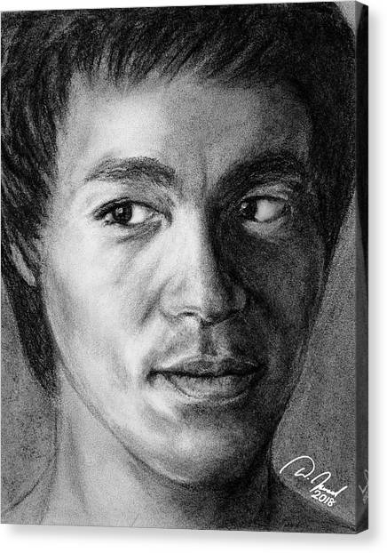 Bruce Lee Canvas Print by Walter Israel