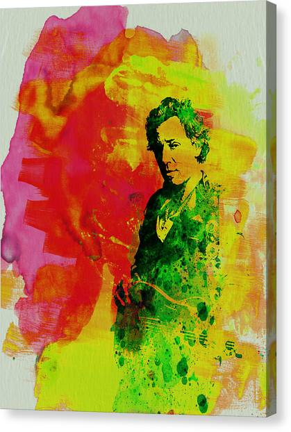 Bruce Springsteen Canvas Print - Bruce Springsteen by Naxart Studio