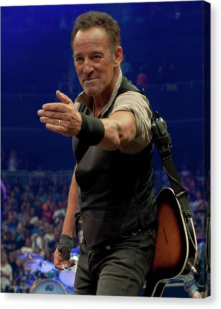 Bruce Springsteen Canvas Print - Bruce Springsteen. Pittsburgh, Sept 11, 2016 by Jeff Ross