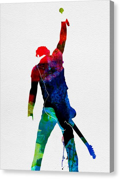 Rock Music Canvas Print - Bruce Watercolor by Naxart Studio