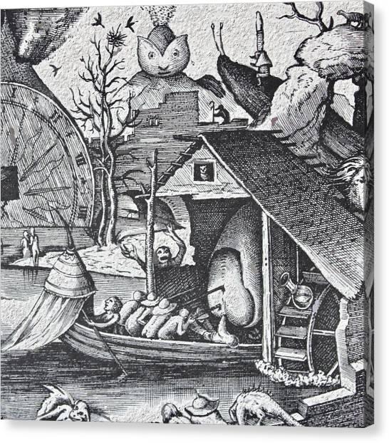 Canvas Print - Bruegel Never Never Land Vingette 2 by Modern Art
