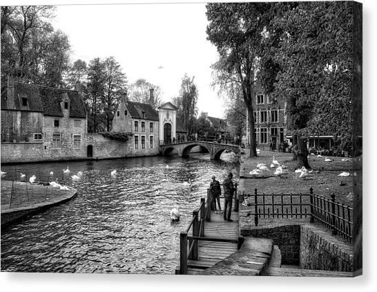 Bruges Bw3 Canvas Print
