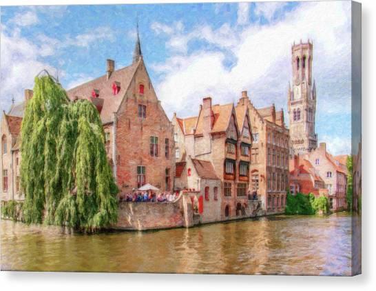 Bruges Canal Belgium Dwp-2611575 Canvas Print