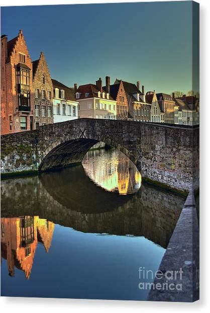 Bruges Twighlight Canvas Print