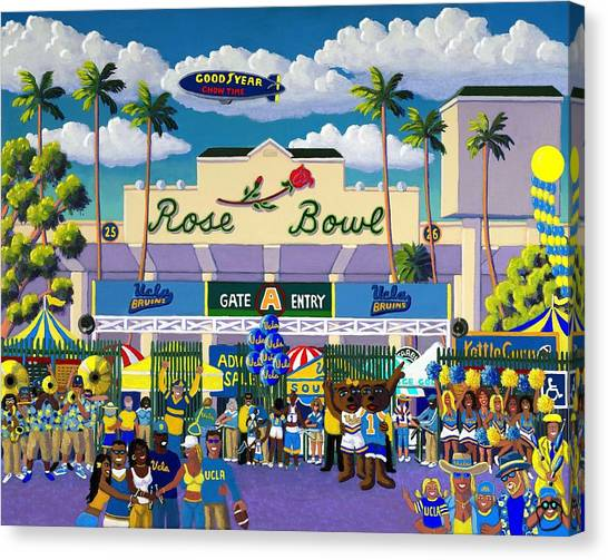Ucla Canvas Print - Bruinville by Frank Strasser