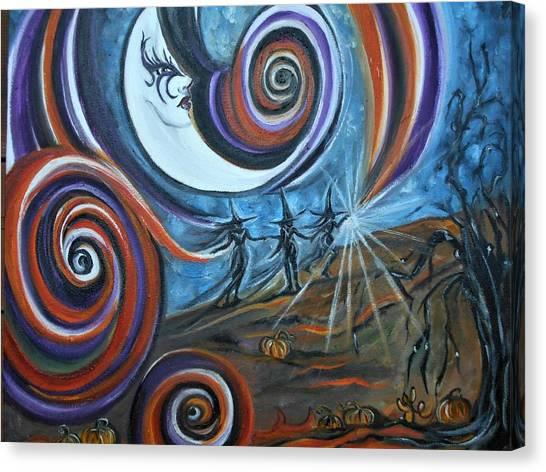 Bruja Luna Canvas Print
