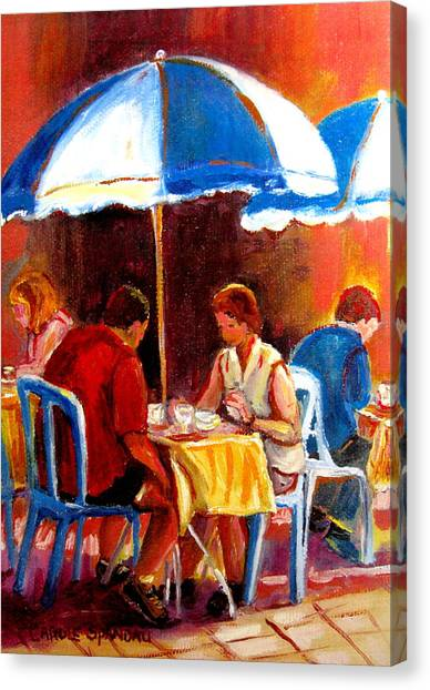 The Main Montreal Canvas Print - Brunch At The Ritz by Carole Spandau