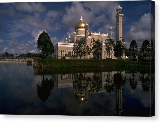 Travelpics Canvas Print - Brunei Mosque by Travel Pics