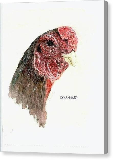 Bruno The Ko Shamo Rooster Canvas Print