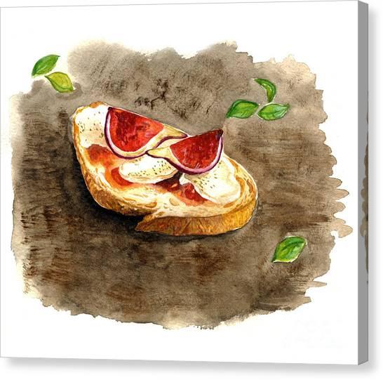 Bruschette Con Fichi Canvas Print