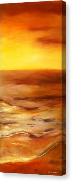 Brushed 5 - Vertical Sunset Canvas Print