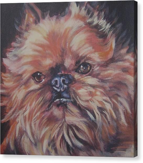 Griffon Canvas Print - Brussels Griffon by Lee Ann Shepard