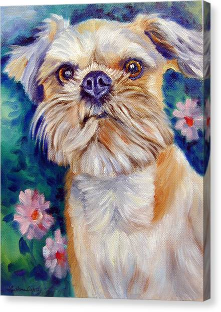 Griffons Canvas Print - Brussels Griffon by Lyn Cook