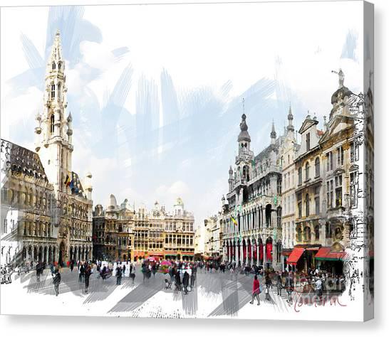 Brussels Grote Markt  Canvas Print