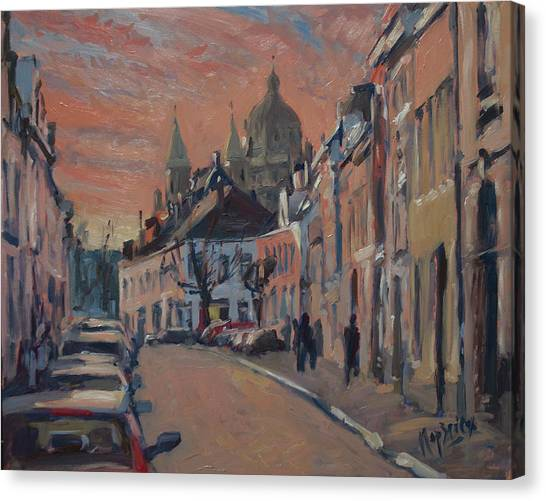 Briex Canvas Print - Brusselsestraat Maastricht by Nop Briex