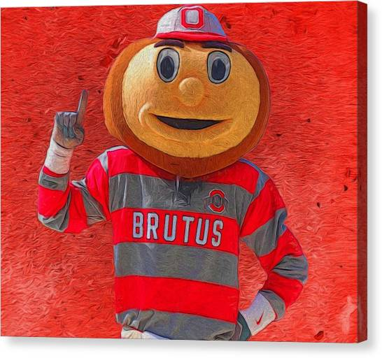 Ohio State University Canvas Print - Brutus The Buckeye by Dan Sproul