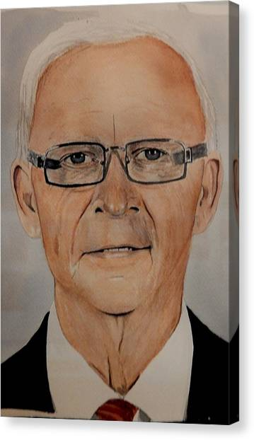 Ottawa Senators Canvas Print - Bryan Murray by Betty-Anne McDonald