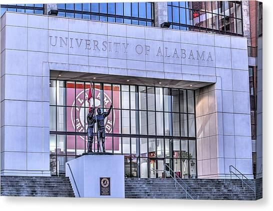 The University Of Alabama Canvas Print - Bryant Denny  by JC Findley