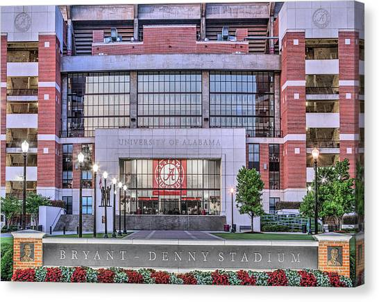 The University Of Alabama Canvas Print - Bryant Denny Stadium by JC Findley