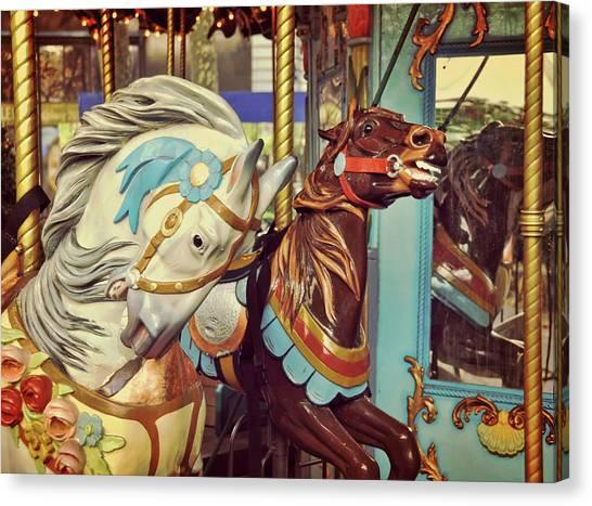 Bryant Park Carrousel Canvas Print by JAMART Photography