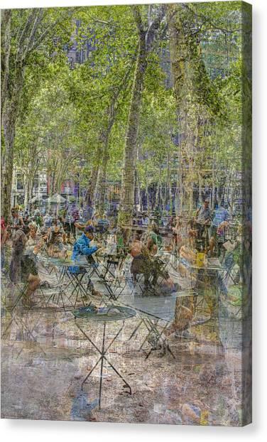 Bryant Park Collage 2 Canvas Print