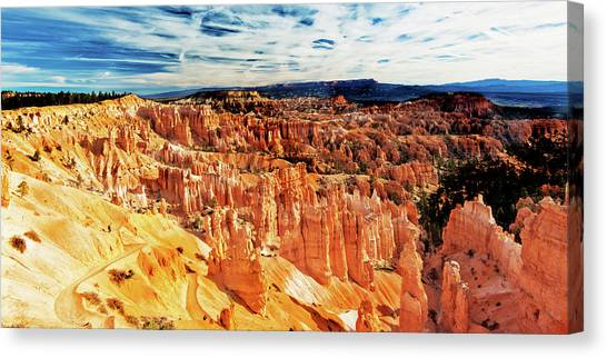Canvas Print featuring the photograph Bryce Canyon Overlook by Norman Hall