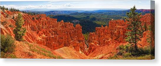 Bryce Canyon Panorama Canvas Print by Bob Coates