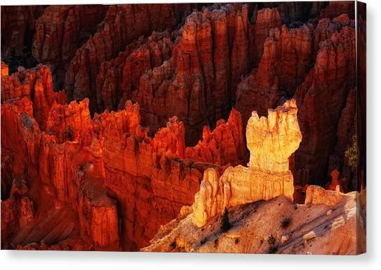 Bryce Canyon Sunrise Canvas Print by Bob Coates
