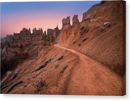 Canyons Canvas Print - Bryce Canyon Sunset by Larry Marshall
