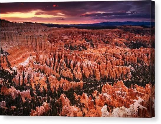 Bryce Canyon Sunset Canvas Print by Nolan Nitschke