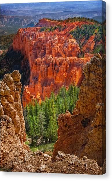 Bryce Canyon Vista Canvas Print by Bob Coates