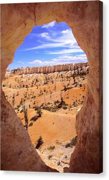Bryce Canyon Window Canvas Print by Alan Lenk