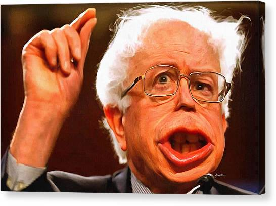 Bernie Sanders Canvas Print - Bsanders by Anthony Caruso