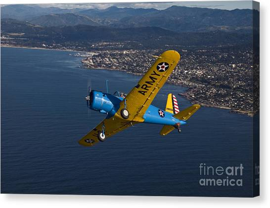 Prop Planes Canvas Print - Bt-13 Valiant by Susan Yates