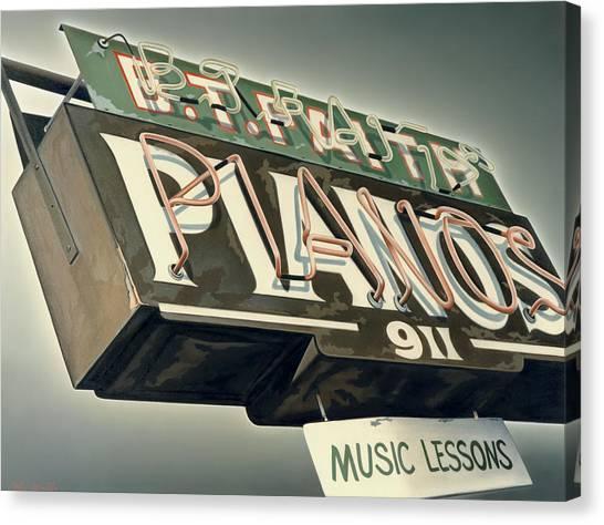 Canvas Print - B.t.faith Pianos by Van Cordle
