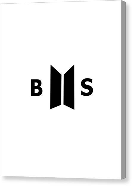 Suga Canvas Print - Bts Logo 2017 by Yama