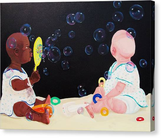 Bubble Babies Canvas Print