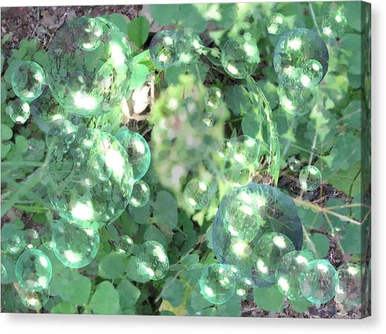 Canvas Print - Bubble Grass by Pamula Reeves-Barker
