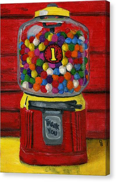 Bubble Gum Bank Canvas Print