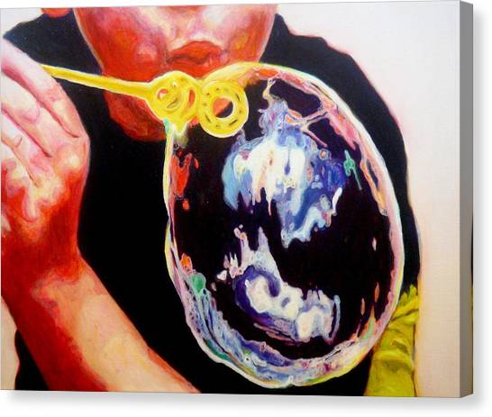 Bubble Canvas Print by Lizzie  Johnson