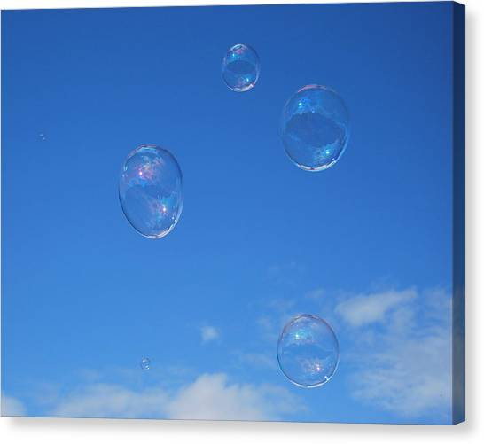 Bubble Play Canvas Print by Marilynne Bull