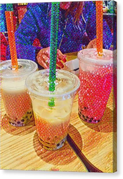Bubble Tea For Three Canvas Print