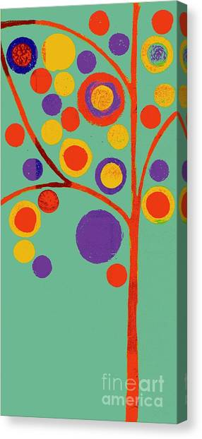 Orange Tree Canvas Print - Bubble Tree - 290l - Pop 01 by Variance Collections