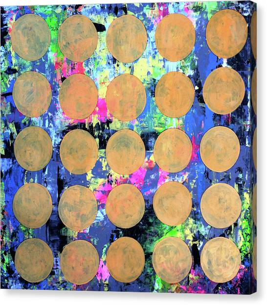 Splashy Art Canvas Print - Bubble Wrap Print Poster Huge Colorful Pop Art Abstract Robert R by Robert R Splashy Art Abstract Paintings