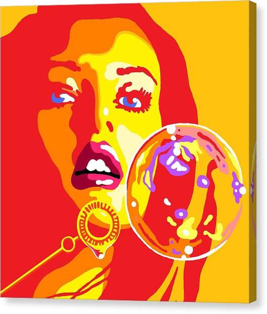 Bubbles 2 Canvas Print by Heli Luukkanen