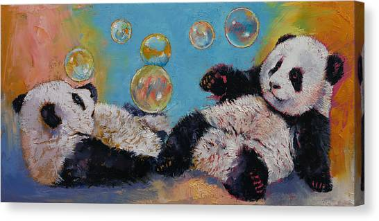 Drunk Canvas Print - Bubbles by Michael Creese